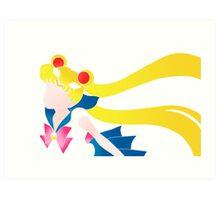 Sailor Moon - Vintage Simple Colors Art Print