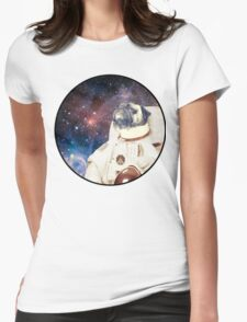Astro Pug Womens Fitted T-Shirt