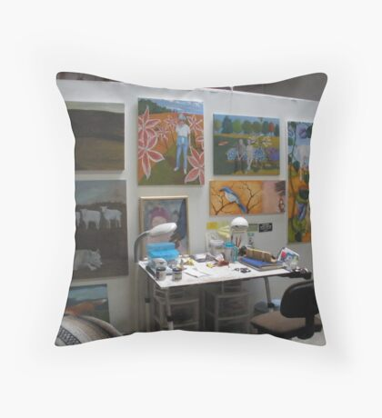 my studio Throw Pillow
