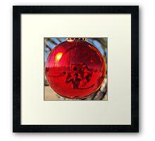 Red Ball Framed Print