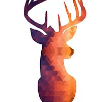 The Stag - Burnt Geometric by SClarkeArt