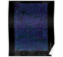USGS Topo Map Washington Deadman Peak 240797 1967 24000 Inverted Poster