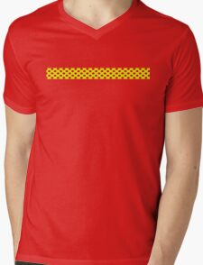 Yellow Red Polka Dots  Mens V-Neck T-Shirt