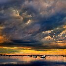 Drama over Corio Bay - Geelong by Hans Kawitzki