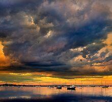 Drama over Corio Bay - Geelong by Hans Kawitzki