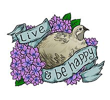 Live and Be Happy (button quail) Photographic Print