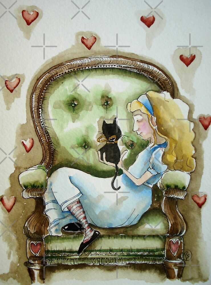Alice and Dinah's kitten by StressieCat