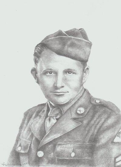 World War II soldier by Pam Humbargar