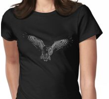 flying owl Womens Fitted T-Shirt