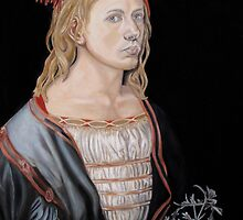 "Copy of ""Self-portait at 22"" by Albrecht Dürer 1493 by Jennifer Herrin"