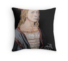 """Copy of """"Self-portait at 22"""" by Albrecht Dürer 1493 Throw Pillow"""