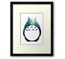 Totoro's Forest Framed Print