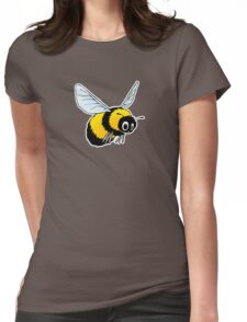 Happily Bumbling Bumble Bee Womens Fitted T-Shirt