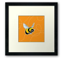 Happily Bumbling Bumble Bee Framed Print