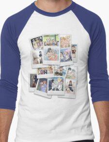 Fairy Tail: Polaroid Collage Men's Baseball ¾ T-Shirt