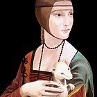 """Copy of """"Lady with Ermine"""" by DaVinci 1489 by Jennifer Herrin"""