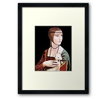 "Copy of ""Lady with Ermine"" by DaVinci 1489 Framed Print"