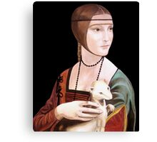 """Copy of """"Lady with Ermine"""" by DaVinci 1489 Canvas Print"""