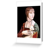 "Copy of ""Lady with Ermine"" by DaVinci 1489 Greeting Card"