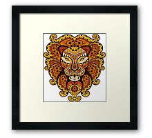 Lion Abstraction Framed Print