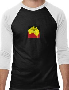 No Room For Racism - Aboriginal Flag (zoomed in) Men's Baseball ¾ T-Shirt