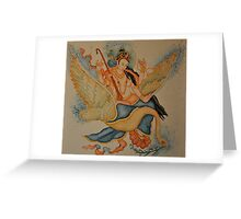 Mahadevi: mother of the Buddha Greeting Card