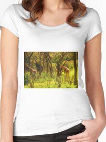 Giraffe Manor Park in Nairobi, Kenya Women's Fitted Scoop T-Shirt
