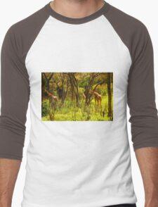Giraffe Manor Park in Nairobi, Kenya Men's Baseball ¾ T-Shirt