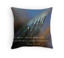 Determination is the Key Throw Pillow