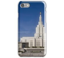 Mormon Temple - Idaho Falls Afternoon iPhone Case/Skin