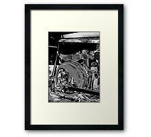 Locomotive Wheel Framed Print