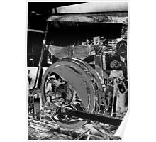 Locomotive Wheel Poster