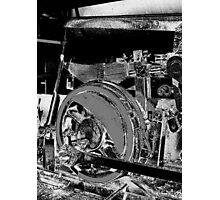 Locomotive Wheel Photographic Print