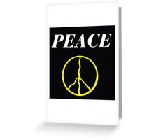 PEACE HAPPY PEOPLE Greeting Card