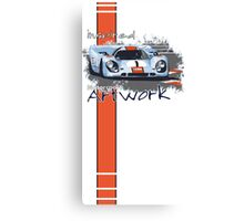 Gulf Porsche Motorsport Artwork Canvas Print