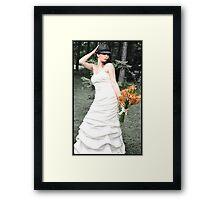 Lovely Bride Framed Print