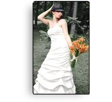 Lovely Bride Canvas Print