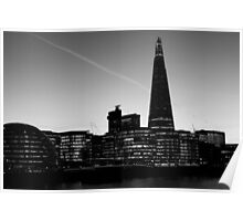 The Shard in B&W Poster