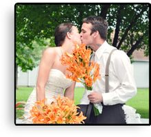 Happy Couple Canvas Print