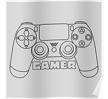 Gamer - black Poster