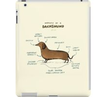 Anatomy of a Dachshund iPad Case/Skin