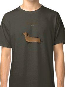 Anatomy of a Dachshund Classic T-Shirt