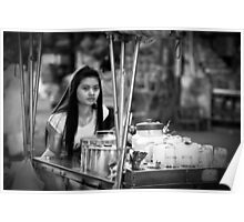 Vietnam - Young Woman Working Poster