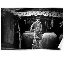 Vietnam - Young Woman Leaving Home Poster