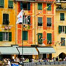 Lunch in Portofino by Harry Oldmeadow