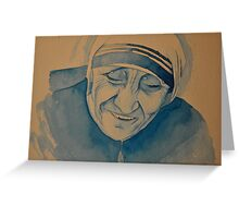 Mother Theresa laughing Greeting Card