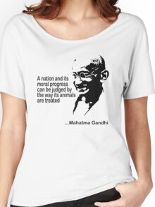 Gandhi Animal Rights T-Shirt Women's Relaxed Fit T-Shirt