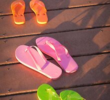 """Walk This Way"" - flip flops by John Hartung"