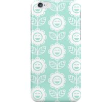 Mint Fun Smiling Cartoon Flowers iPhone Case/Skin