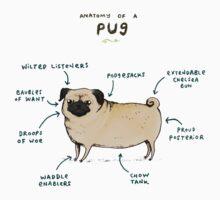 Anatomy of a Pug One Piece - Short Sleeve